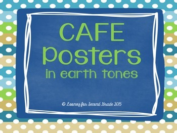 CAFE Posters in Earth Tones