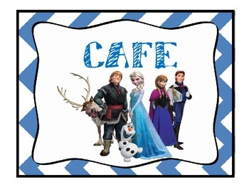 CAFE Posters with Frozen Theme