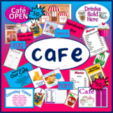 CAFE ROLE PLAY TEACHING RESOURCES DRAWING EYFS FOOD HEALTHY EATING DISPLAY