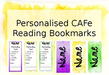 CAFE Reading Bookmarks Watercolour