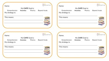 CAFE Reading Goal Template