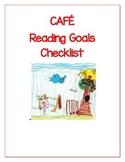 CAFE Reading Goals Checklist