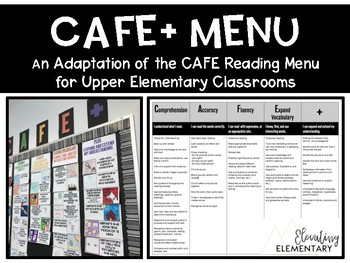 CAFE Reading Menu for Upper Elementary