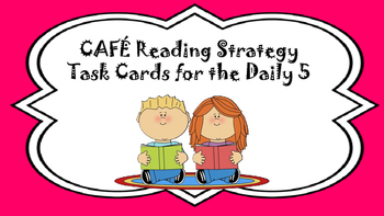 CAFE Reading Strategy Activities