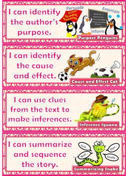 CAFE Reading Strategy Display Cards / Anchor Charts / Posters