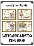 CAFE Reading Strategy Menu Bulletin Board Wall Header & Ca