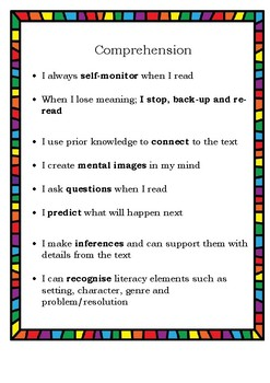 CAFE Reading Student Checklists