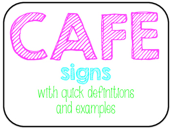 CAFE Signs, definitions, and examples