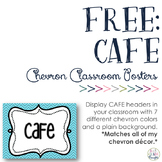 FREE CAFE Signs: Chevron