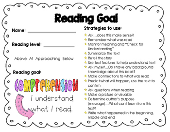 CAFE Strategies/Reading Profile