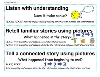 CAFE Headers and Strategy Signs for Emergent Readers