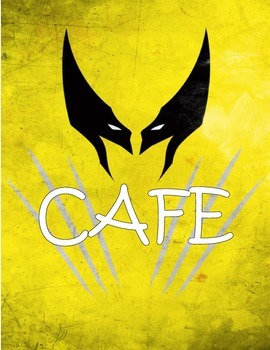 CAFE Super Hero Outline Posters