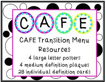 CAFE Transition Menu Poster Pack