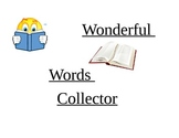 CAFE Wonderful Word Collector
