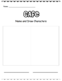 CAFE Worksheets for Kindergarten and Grade 1: Retell, Char