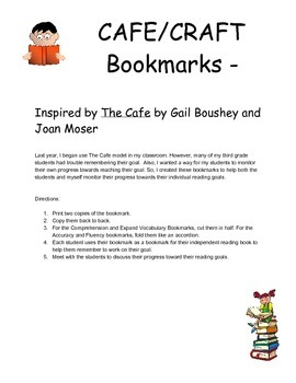 CAFE and CRAFT Inspired Reading Goal Bookmarks