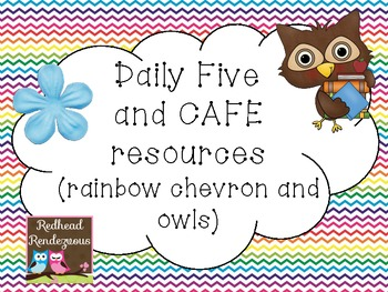 CAFE and Daily Five resources