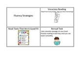 CAFE fluency strategy cards with visuals