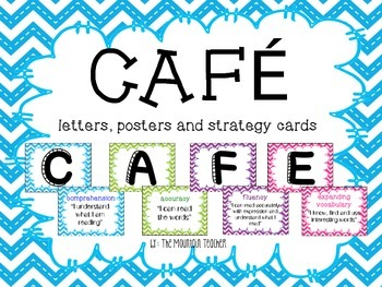 CAFE letters, signs and strategy cards - chevron