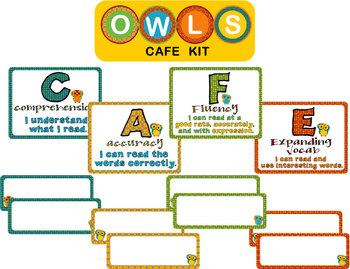 CAFE poster kit - Owl theme