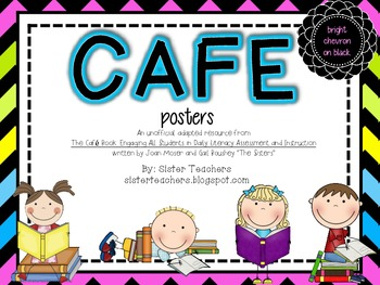 CAFE posters *bright chevron on black*