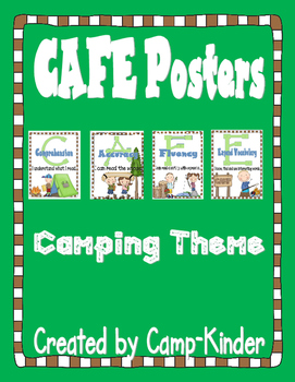 CAFE Menu Cards- Camping theme