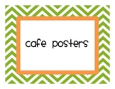 CAFE posters chevron