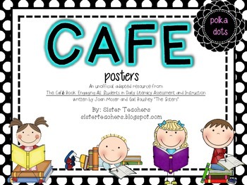 CAFE posters *polka dots*