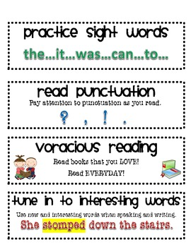 CAFE reading strategies-printable! (updated)
