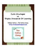CAFE strategies vs. Virginia SOLs