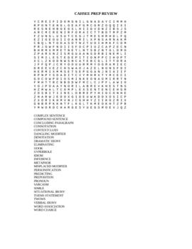 CAHSEE Bingo Game+20 bonus assignments/handouts