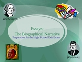 CAHSEE Biographical Narrative Writing PowerPoint