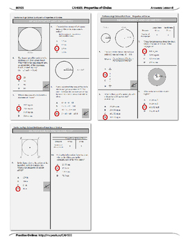 CAHSEE- Lesson 5: Properties of Circles