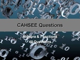 CAHSEE Review -- Algebra & Functions