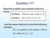 CAHSEE Review -- Mathematical Reasoning