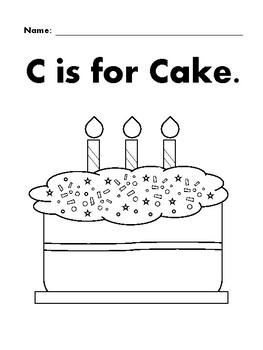 CAKE Basic Shapes Coloring Page