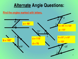 CALCULATING ANGLES FROM PARALLEL LINES