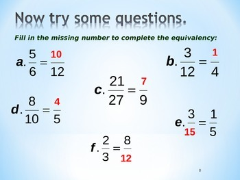 CALCULATING FRACTIONS