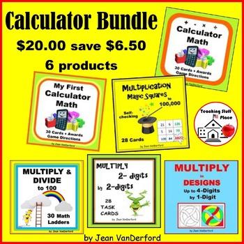 Calculator BUNDLE Practice FUN Ways ... Gr 4-5-6 Early Finishers CALCULATOR MATH