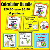 Calculator BUNDLE Practice FUN Ways $$$ Gr 4-5-6 Early Finishers CALCULATOR MATH