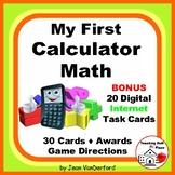 First CALCULATOR MATH | Multi-step | Task Cards | FUN | Gr. 4-5 Problems