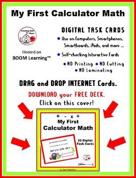 First CALCULATOR MATH  Multi-step  Task Cards  FUN  Gr. 4-5 Problems