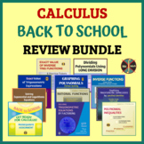 CALCULUS BACK TO SCHOOL - Review Bundle