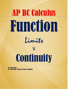 CALCULUS : LIMITS AND FUNCTION CONTINUITY