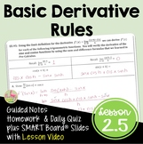 Calculus Basic Differentiation Rules (Unit 2) with Lesson Video