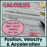 Calculus: Position Velocity Acceleration
