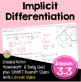 Calculus: Implicit Differentiation