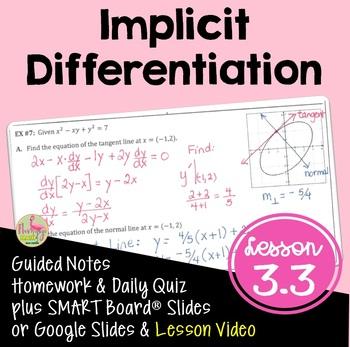 Calculus: Implicit Differentiation