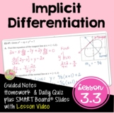 Calculus Implicit Differentiation (Unit 3) DISTANCE LEARNING