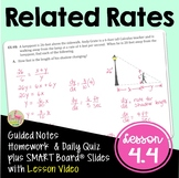 Calculus Related Rates with Lesson Video (Unit 4)
